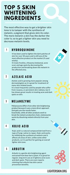 #ingredients #whiteningingredients #skinwhitening #top5 #hydroquinone #azelaicacid #melanozyme #kojicacid #arbutin #creams #melanin #darkspots #lighterskin