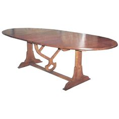 Custom Wine Tasting Style Dining Table   From a unique collection of antique and modern dining room tables at https://www.1stdibs.com/furniture/tables/dining-room-tables/