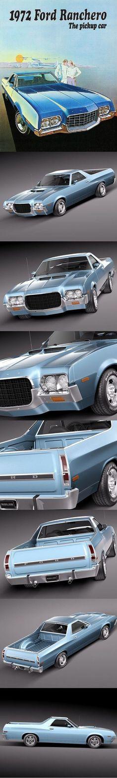Ford Ranchero 1972 #fordvintagecars