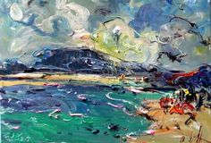 "Saatchi Online Artist Andrew Zhao; Painting, ""Seaside impression-No.4"" #art"