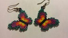 Butterfly design earrings