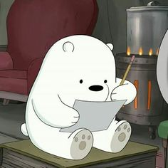 We bare bears Ice Bear We Bare Bears, 3 Bears, Cute Bears, Cute Disney Wallpaper, Cute Cartoon Wallpapers, We Bare Bears Wallpapers, Animated Icons, Bear Wallpaper, Cartoon Icons