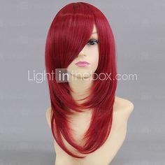 Cosplay Wigs Cosplay Esther Blanchett Red Medium Anime Cosplay Wigs 50 CM Heat Resistant Fiber Female - USD $19.99