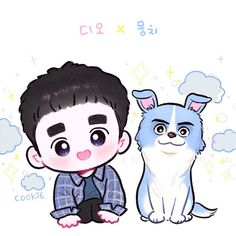 디오✨뭉치 Kyungsoo, Exo Cartoon, Exo Anime, Exo Fan Art, Exo Do, Do Kyung Soo, Bts And Exo, Sketch Inspiration, Bts Chibi