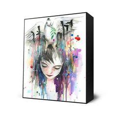 Mr. Peace Mini Art Block By: Lora Zombie - The Incredible Art Gallery