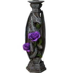 Anne Stokes Candlestick Dragon Beauty
