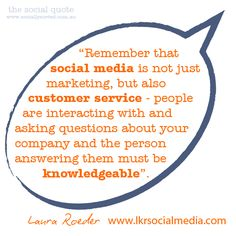 The Social Quote - Laura Roeder on Social Media Delegation (www.sociallysorted.com.au)