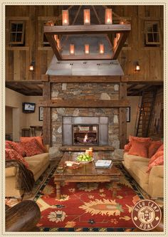 What a living room...perfect for my log cabin dream home.