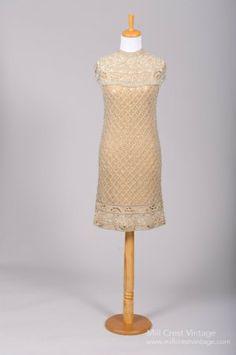 1960 Metallic Beaded Vintage Wedding Dress