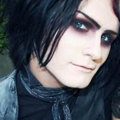devin sola from motionless in white. He has gorgeous eyes. Kinda looks a lot like Paige Haley........