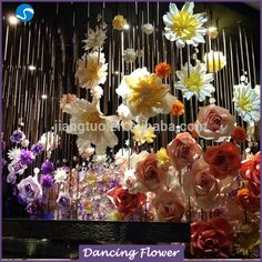 2017 Artificial paper flower stage western decoration wedding backdrop