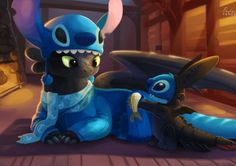 If Toothless And Stitch Were Friends