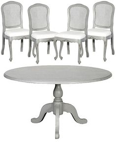 Portobello Grey Dining Table And Chair Set