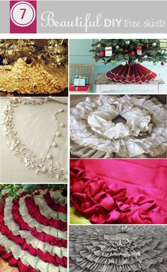do it yourself divas: DIY: 7 Beautiful Tree Skirts (the other pin with the red burlap takes you to a website where you have to hunt for the DIY instructions. This takes you straight to the DIY instructions for multiple tree skirts) Christmas Sewing, Diy Christmas Tree, Christmas Love, Christmas Projects, Winter Christmas, All Things Christmas, Holiday Crafts, Holiday Fun, Holiday Decor