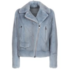 Brunello Cucinelli Mink Biker Jacket ($20,930) ❤ liked on Polyvore featuring outerwear, jackets, rider jacket, blue moto jackets, mink fur jacket, blue biker jacket and pastel moto jacket