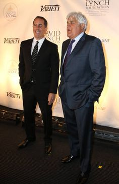 Jerry Seinfeld and Jay Leno attend the National Night Of Laughter And Song event hosted by David Lynch Foundation at the John F Kennedy Center for...