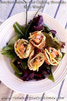 Smoked Salmon and Creamy Avocado Keto Wraps By The Nourished Caveman