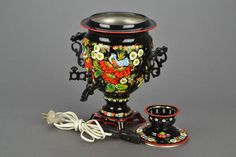 Hey, I found this really awesome Etsy listing at https://www.etsy.com/listing/213978858/painted-electric-samovar
