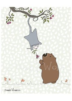 Childrens art print Possie Blossum