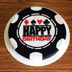 """Love this cake for a casino themed birthday party . Poker Chip Cake """"Have a Killer Birthday"""" Casino Party, Casino Theme Parties, Birthday Party Themes, 25th Birthday, Birthday Cakes, Happy Birthday, Poker Cake, Las Vegas, Party Plates"""