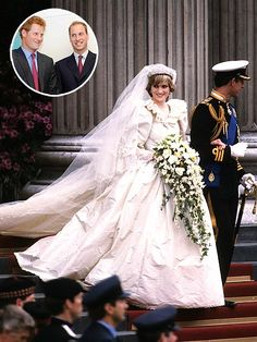Princes William  & Prince Harry set to receive their mother's wedding dress.