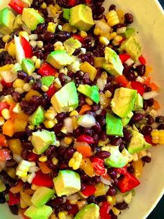 Southwest Black Bean and Corn Salad - Salat & alla Art von Gerichte - Salad Potluck Dishes, Potluck Recipes, Vegetarian Recipes, Cooking Recipes, Healthy Recipes, Potluck Salad, Summer Recipes, Corn Salad Recipes, Corn Salads