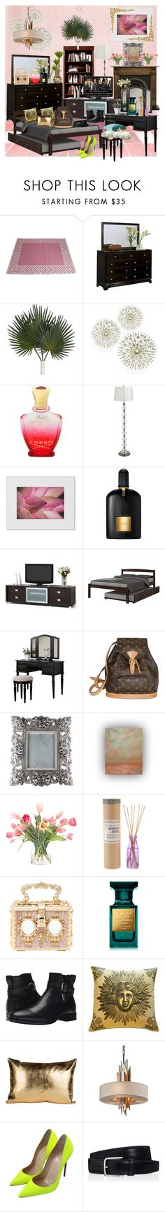 """Chill Time...."" by seanahr ❤ liked on Polyvore featuring Madeline Weinrib, Abbyson Living, Creed, Pier 1 Imports, NOVICA, Tom Ford, Baxton Studio, Donco, Poundex and Louis Vuitton"