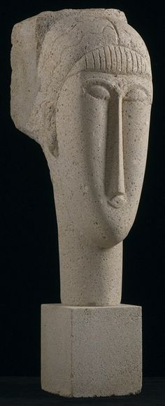 AMEDEO MODIGLIANI 1884 - 1920 TÊTE Stone Height: 28 3/4 in. Description from…