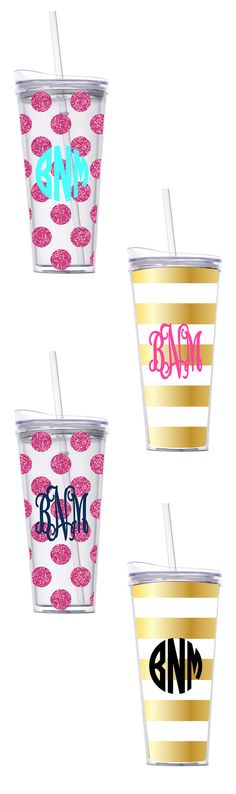 *INTRODUCING* Monogrammed 22oz Tumbler $24.99 From Marleylilly.com - Perfect for the beach or those days on the go, these Monogrammed Tumblers are a must have for summer! #cup #house #kitchen #monogram