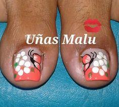 Summer Toe Designs, Nail Designs Spring, Toe Nail Designs, Toe Nail Art, Easy Nail Art, Toe Nails, Mani Pedi, Manicure And Pedicure, Pretty Toes
