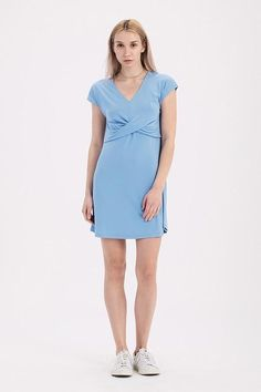 eb7acbbf1ff1 Twist Top Swing Dress - Sky Blue – 3 Sisters