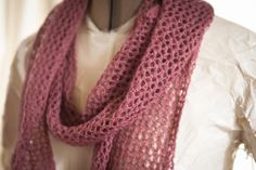 Clara's Knitting: Lattice-Stitch Scarf