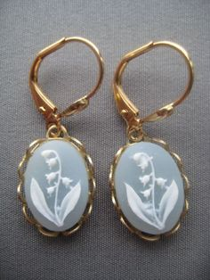 Lily of the Valley Cameo Earrings $18