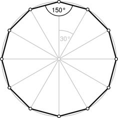 Dodecágono: Qué es, fórmulas y construcción: Dodecágono regular Regular Polygon, Sacred Geometry Symbols, Basic Geometry, Hobby House, Metal Projects, Woodworking Techniques, Background Pictures, Wikimedia Commons, Easy Drawings