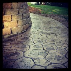 Stamped concrete patio! Hillsboro, OH