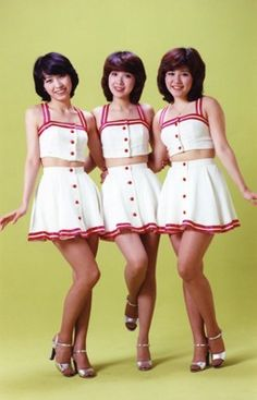 "Candies (キャンディーズ) was a famous Japanese idol group formed in 1973. The three members were Ran Ito (伊藤蘭), Yoshiko Tanaka (田中好子), who went by the nickname ""Sue"", and Miki Fujimura (藤村美樹)."