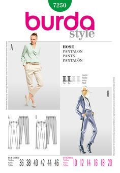 - Burda Style Pants  MUST GET THIS PATTERN! I <3 Burda