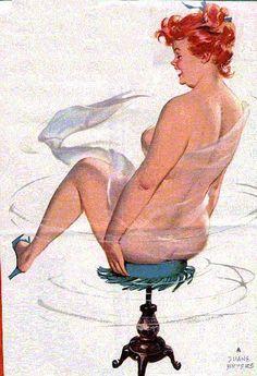 Hilda, spinning on a stool. Weeeee
