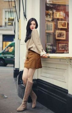 Check Out These Top casual korean fashion 3926 Brown Fashion, Cute Fashion, Look Fashion, Fashion Beauty, Girl Fashion, Fashion Outfits, Womens Fashion, Fashion Trends, Fashion Ideas