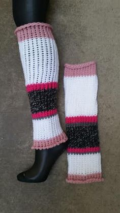 Hand knitted leg warmers by Loom of a Fruit www.etsy.com/shop/loomofafruit