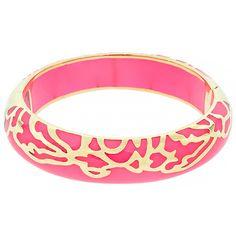 Andrew Hamilton Crawford Half Damask Bracelet ($29) ❤ liked on Polyvore featuring jewelry, bracelets, pink, gold, pink bangles, andrew hamilton crawford, pink jewelry and andrew hamilton crawford jewelry