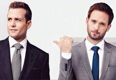Gabriel Macht & Patrick J. Adams (Harvey & Mike) <3 #suits
