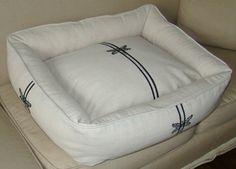 drop cloth dog bed