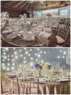 Table Arrangements For Wedding Receptions Baby Blue | visit www.lovelyweddingideas.com