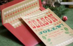 Wood Type Holiday Invitation. See our whole kit for you to download, free!