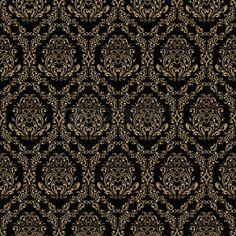 17781504-seamless-retro-wallpaper-in-victorian-style-gold-on-black.jpg (450×450)