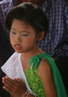 Girl at a traditional village wedding in Isaan NE Thailand  #painting #holiday #thailand jeremyholton.com thailand-painting-holidays.com Visit our art and photography guest house in NE Thailand by Jeremy Holton https://plus.google.com/u/0/104359568476968412848?rel=author