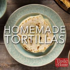 I usually have to double this flour tortilla recipe because we go through them so quickly. The homemade tortillas are so tender and chewy, you'll never use store-bought again after learning how to make tortillas. Comidas Lights, Homemade Flour Tortillas, Making Tortillas, How To Make Tortillas, Vegetarian Recipes, Cooking Recipes, Vegetarian Casserole, Cooking Videos Tasty, Tasty Videos