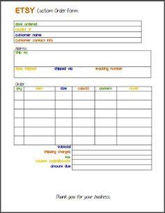 Free T Shirt Order Form Template Download | Sample Order Templates |  Pinterest | Order Form, Template And Cricut