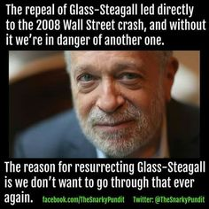 Respected Economist, Robert Reich, endorses Bernie Sanders and reinstatement of Glass-Steagall (tougher regulation of Wall Street than the U.'s current regulatory act, Dodd-Frank). Glass-Steagall is what we need! Sen Bernie Sanders, Bernie Sanders For President, Liberal And Conservative, Robert Reich, Economic Justice, I Voted, Republican Party, Helping Others, Bring It On